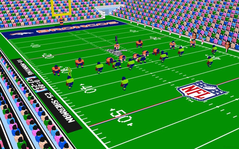8bits super nes 3d tecmo super bowl