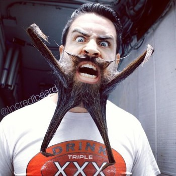 Incredibeard hace arte con su barba img 12