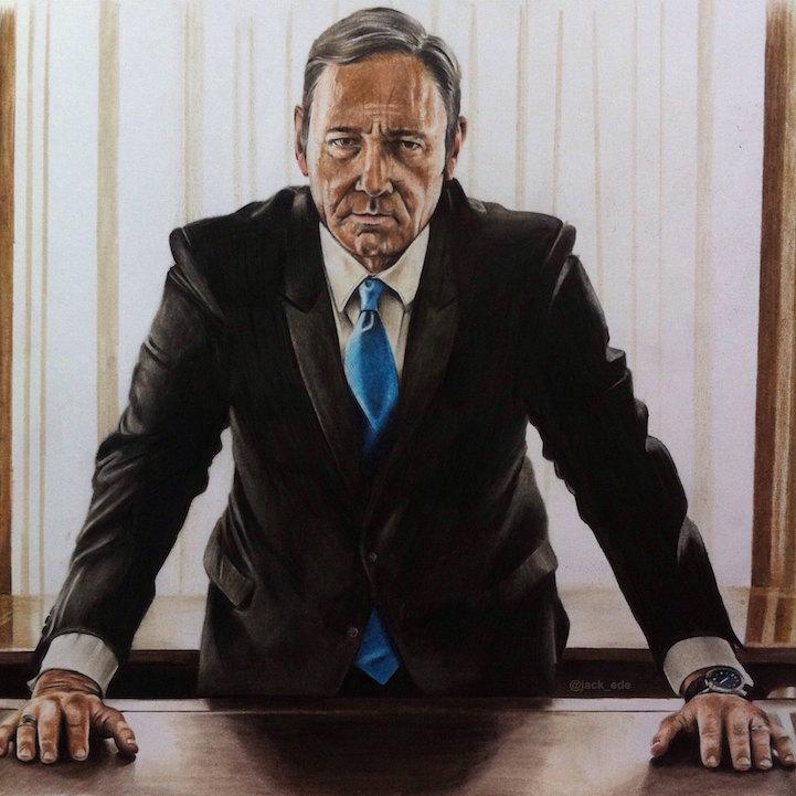 Jack Ede pinturas realistas frank underwood