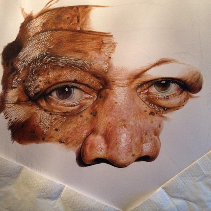 Jack Ede pinturas realistas morgan freeman process