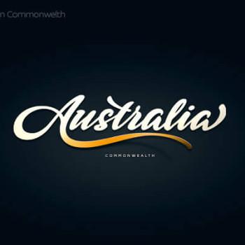 Logos tipográficos de países australia