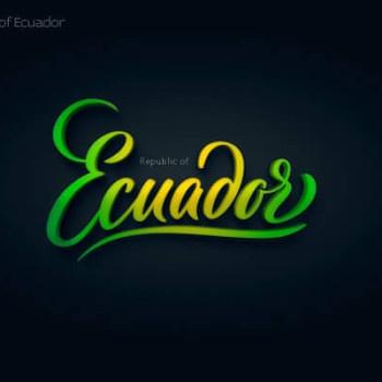 Logos tipográficos de países ecuador