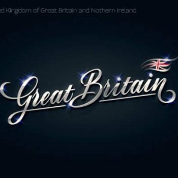 Logos tipográficos de países gran bretaña