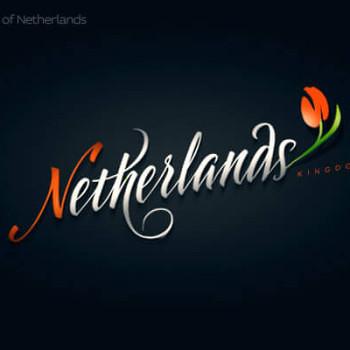 Logos tipográficos de países holanda
