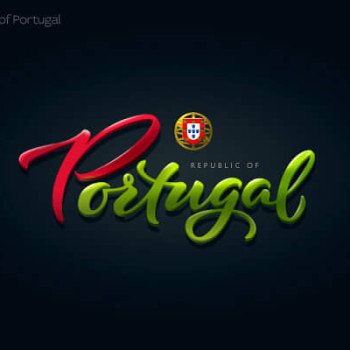 Logos tipográficos de países portugal
