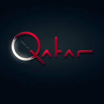Logos tipográficos de países qatar