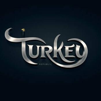 Logos tipográficos de países turkia