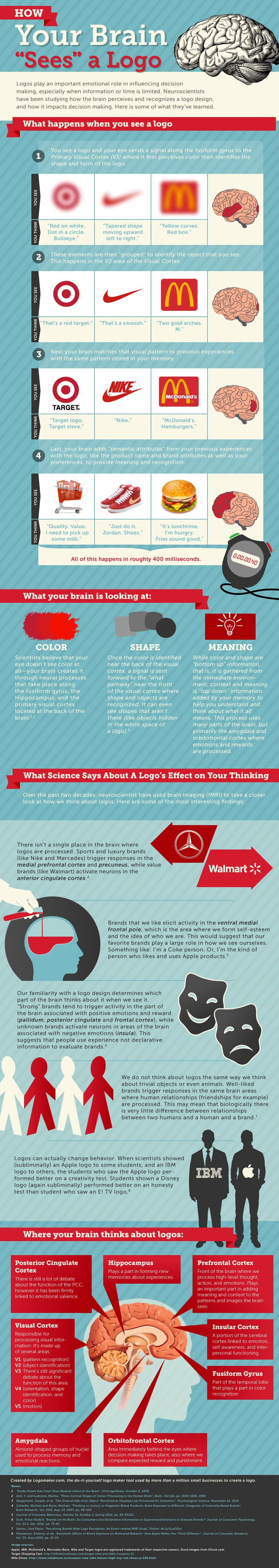 infografia Como relaciona tu cerebro los logos