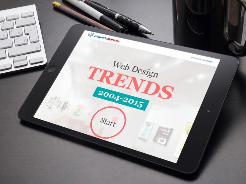 infografia Evolución del diseño web