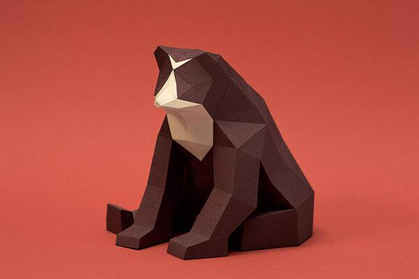 animales hechos con papel oso