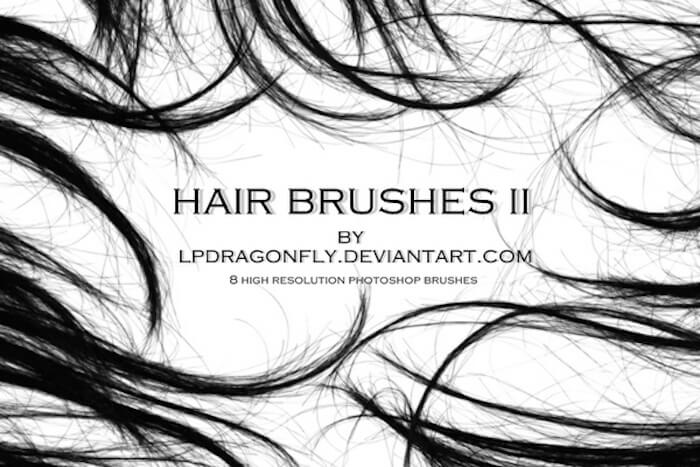 brushes photoshop cabello 2
