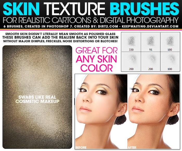 brushes photoshop piel 2
