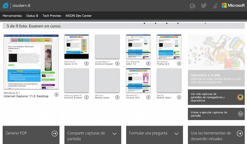 generador screenshots modern ie