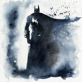 pinturas superheroes acuarelas batman