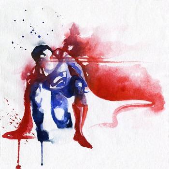 pinturas superheroes acuarelas superman 2
