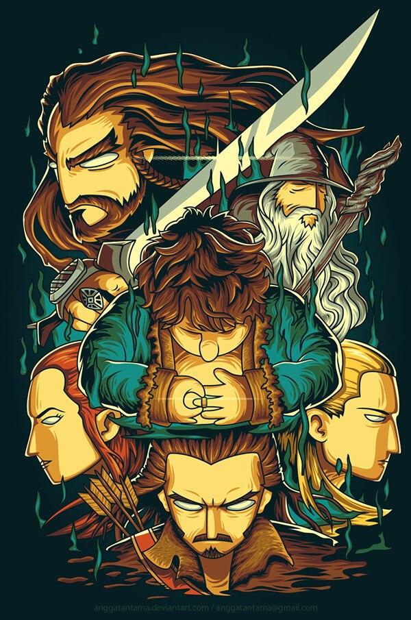 The Hobbit por Angga Tantama