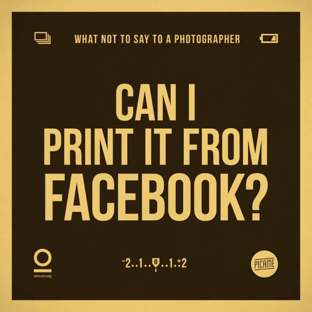 ¿Puedo imprimirla de Facebook?