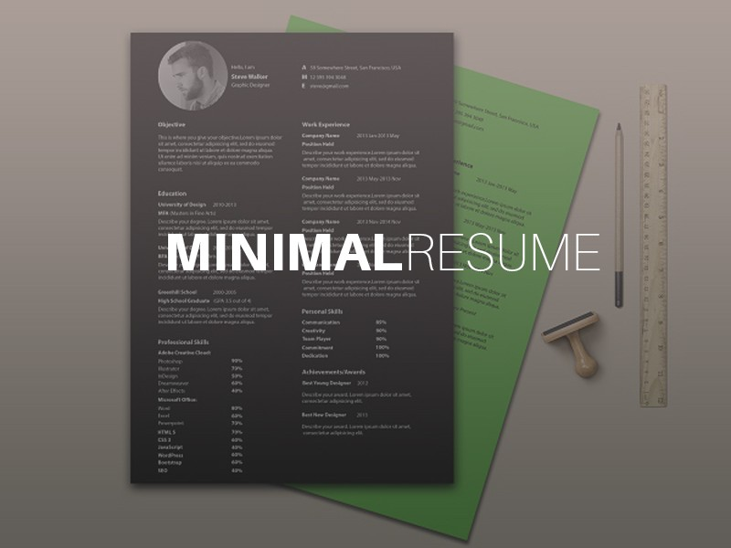 template para curriculum vitae estilo minimalista
