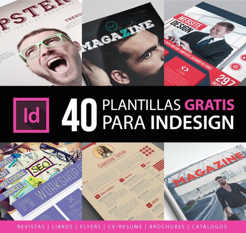 40 Templates InDesign gratis para descargar - Frogx Three