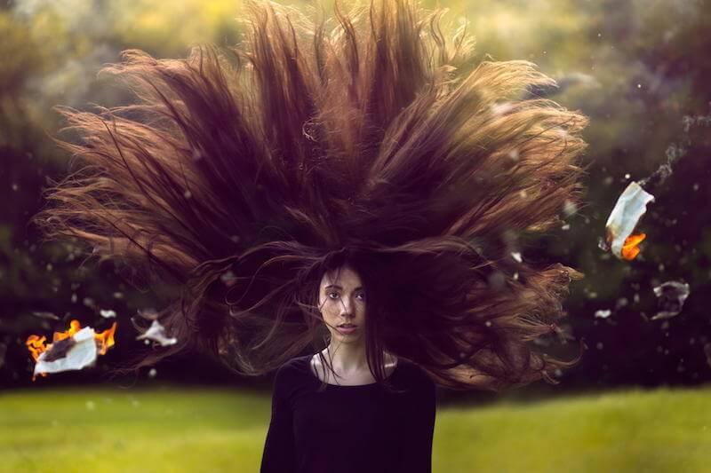 tutorial photoshop efecto dramatico cabello