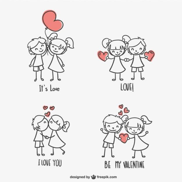 Vectores gratis para crear tarjetas de San Valentin ...