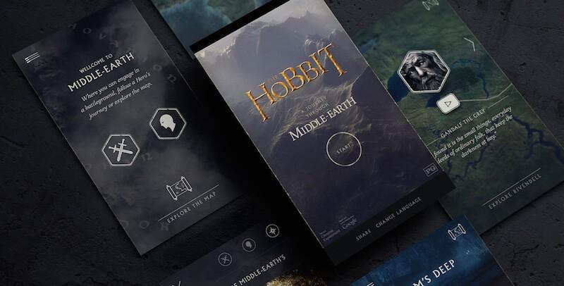 Ganadores de los premios AWWWARDS hobbit
