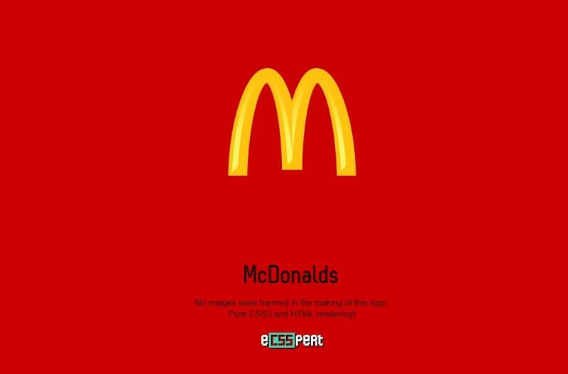 logos css mcdonalds