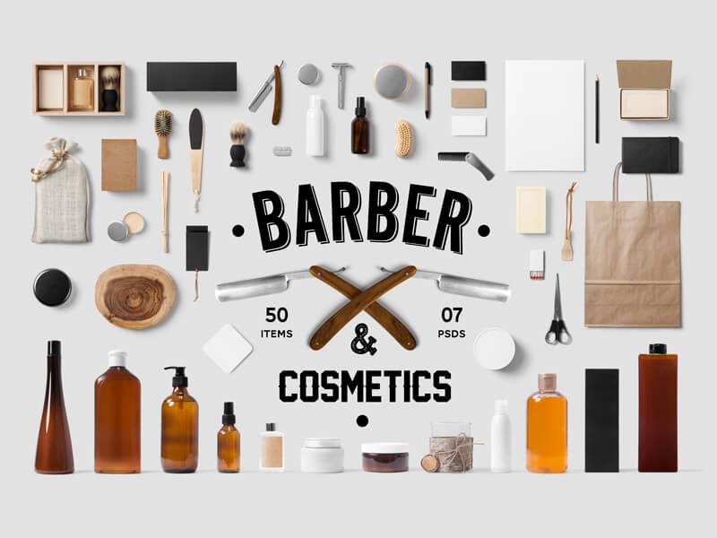 mockup para barberias