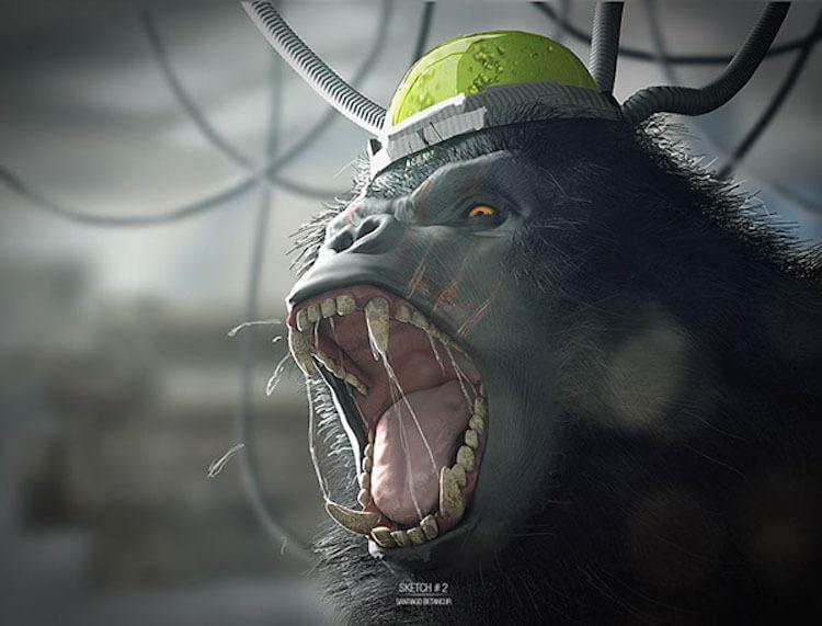 modelado 3d Santiago Betancur gorila