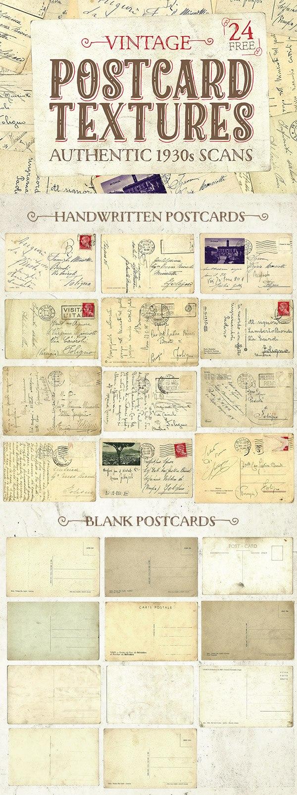 texturas vintage tarjetas postales