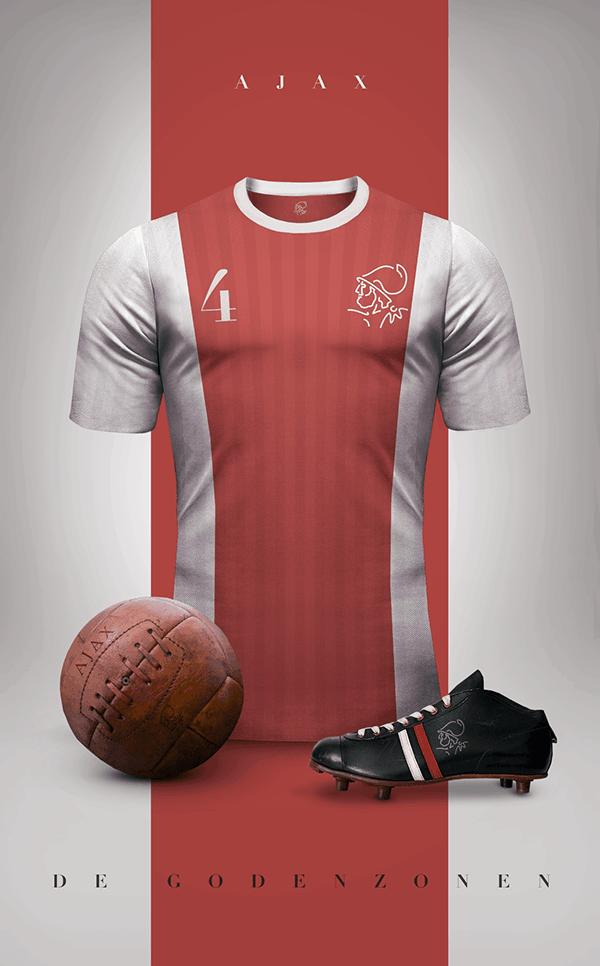 uniformes clubs futbol vintage ajax