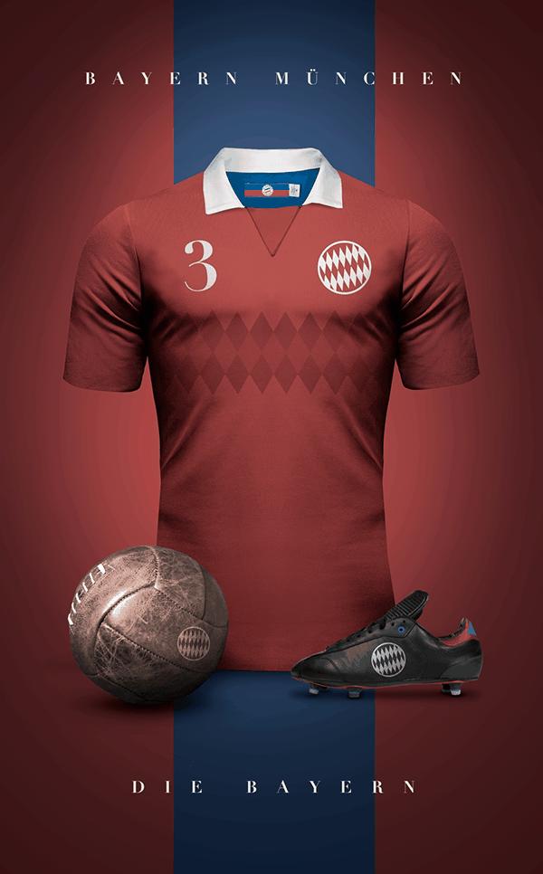 uniformes clubs futbol vintage bayern munich
