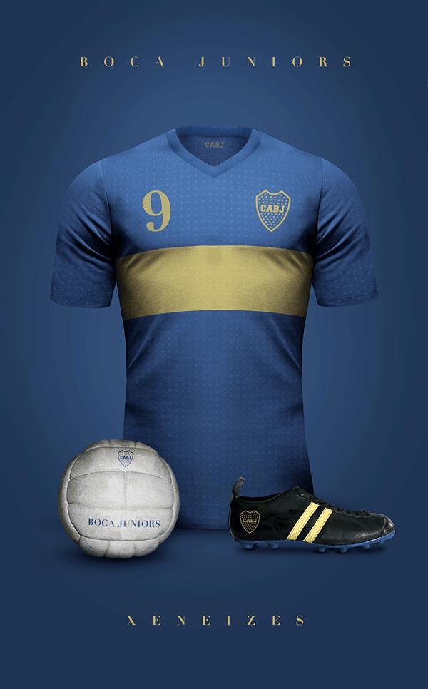 uniformes clubs futbol vintage boca juniors