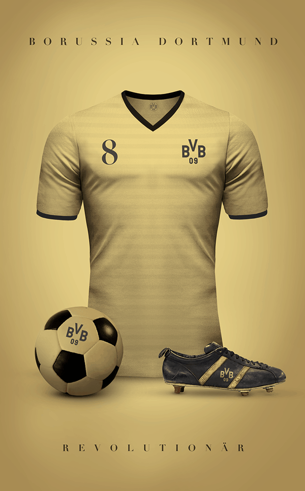 uniformes clubs futbol vintage borussia dortmund