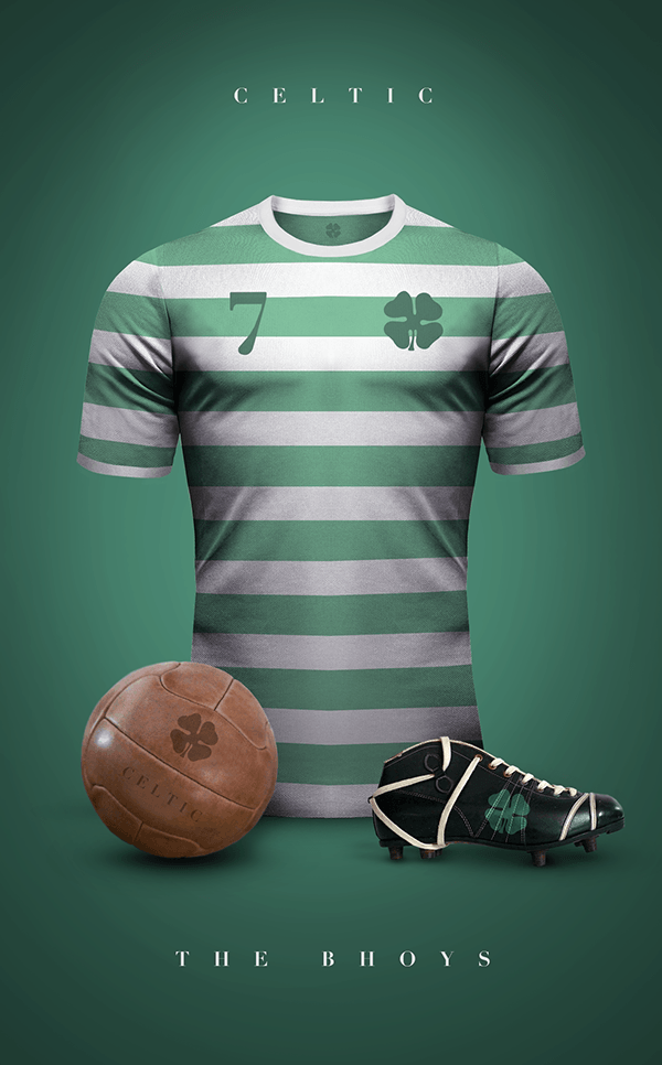uniformes clubs futbol vintage celtic