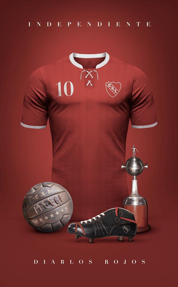 uniformes clubs futbol vintage independiente
