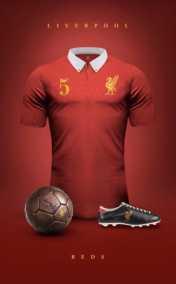 uniformes clubs futbol vintage liverpool
