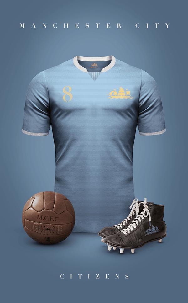 uniformes clubs futbol vintage manchester city