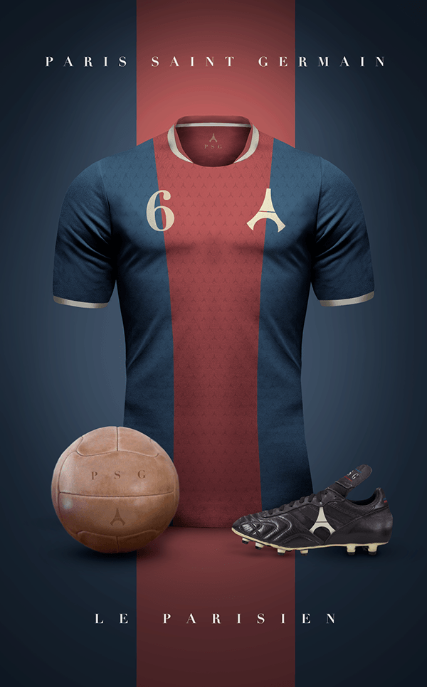 uniformes clubs futbol vintage paris saint germain