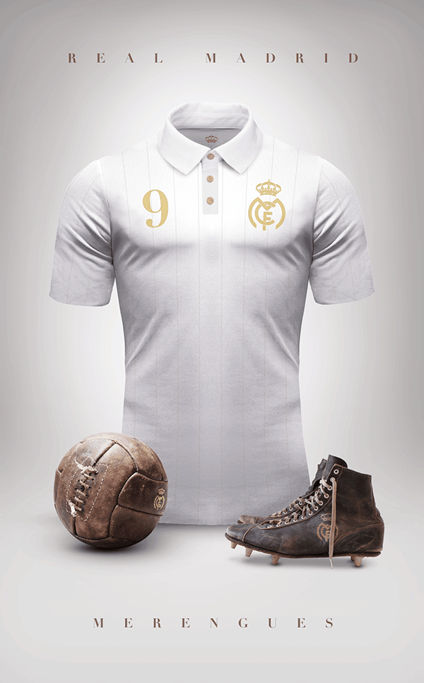 uniformes clubs futbol vintage real madrid