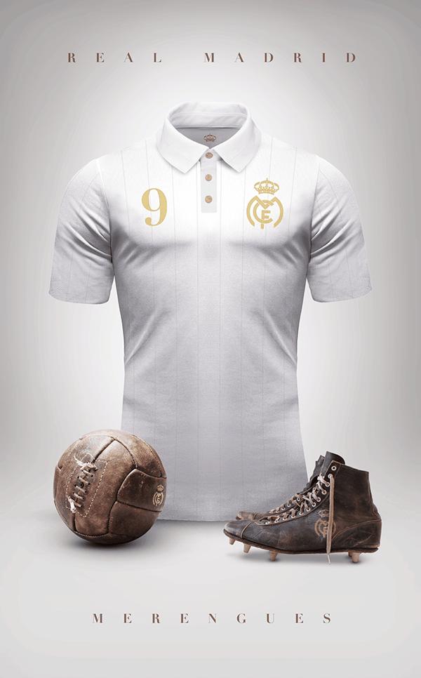 uniformes clubs futbol vintage real madrid