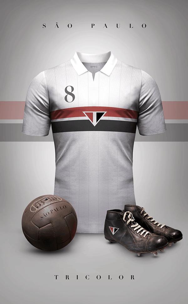 uniformes clubs futbol vintage sao paulo