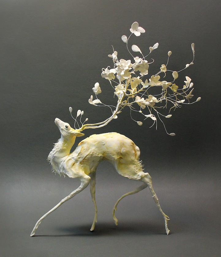 Ellen Jewett esculturas animales ciervo