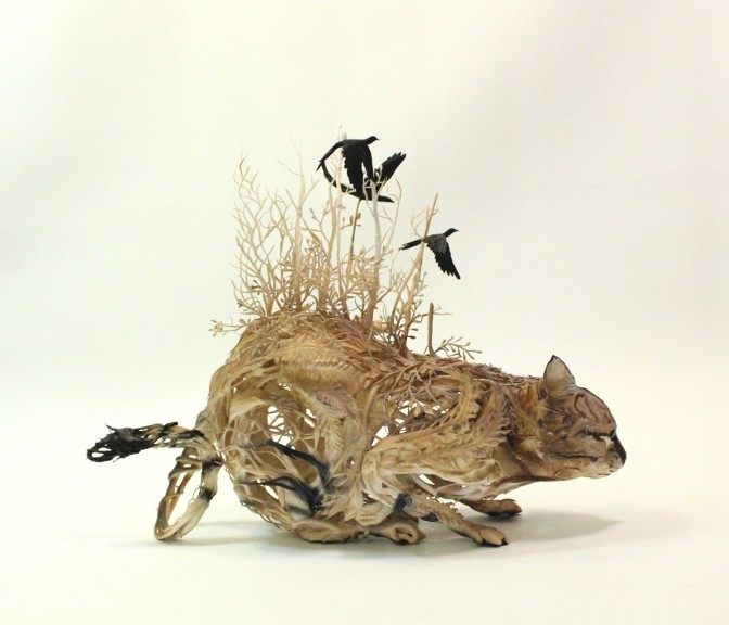 Ellen Jewett esculturas animales gato montes