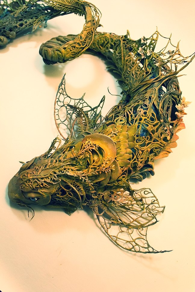 Ellen Jewett esculturas animales pez bagre