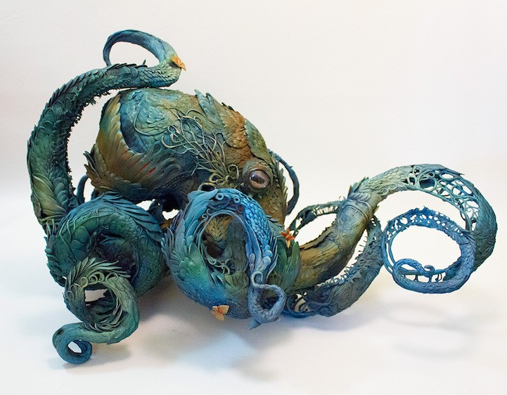 Ellen Jewett esculturas animales pulpo