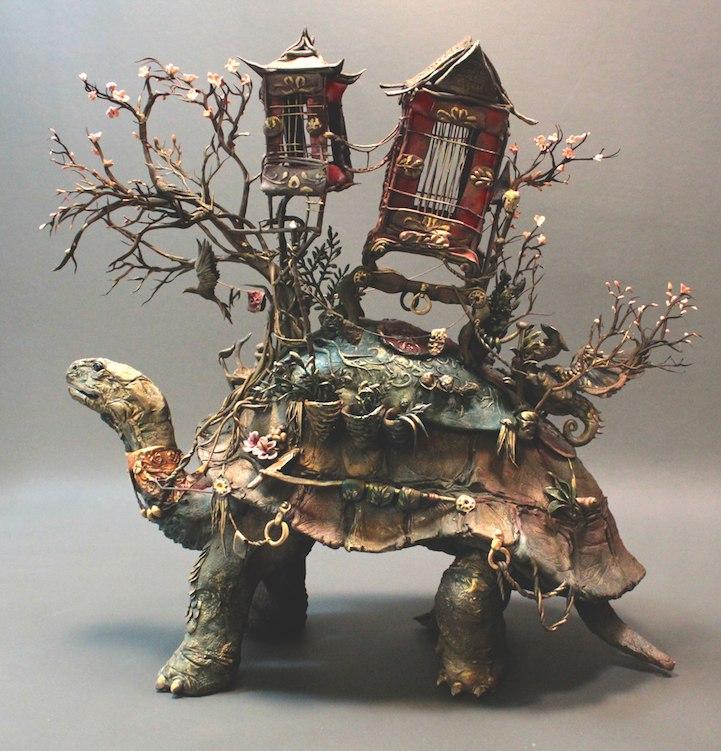 Ellen Jewett esculturas animales tortuga