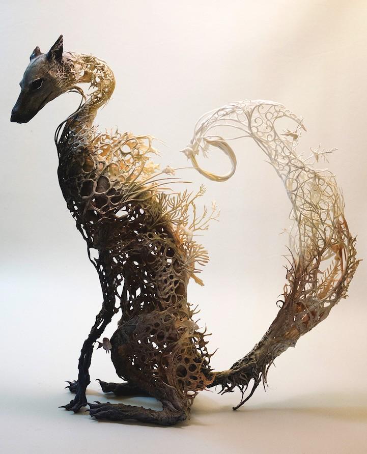 Ellen Jewett esculturas animales zorro