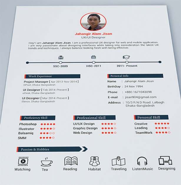 awesome resume formats