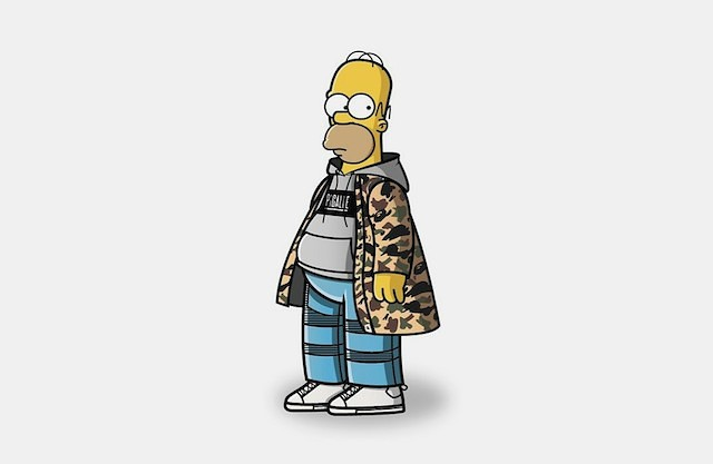 simpsons moda callejera homero